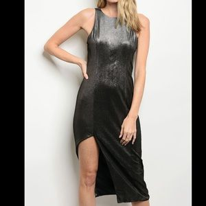 Black metallic dress